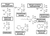 Plan Figure 4: Structure of the different main families of Bisphosphonates (BPs)