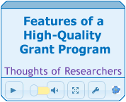 Features of a High Quality Grants Program