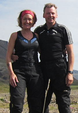 Sigridur with her husband